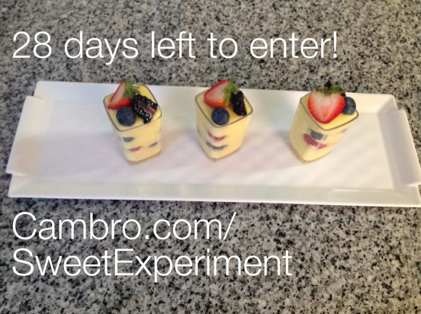 Last Month for the Cambro Sweet Experiment!