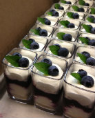 Cambro Sweet Experiment: Blueberry Cheesecake Shots