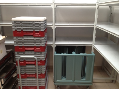 Cambro Camshelving Camracks and Dish Caddy at Unaway Hotel - San Lazzaro Italy