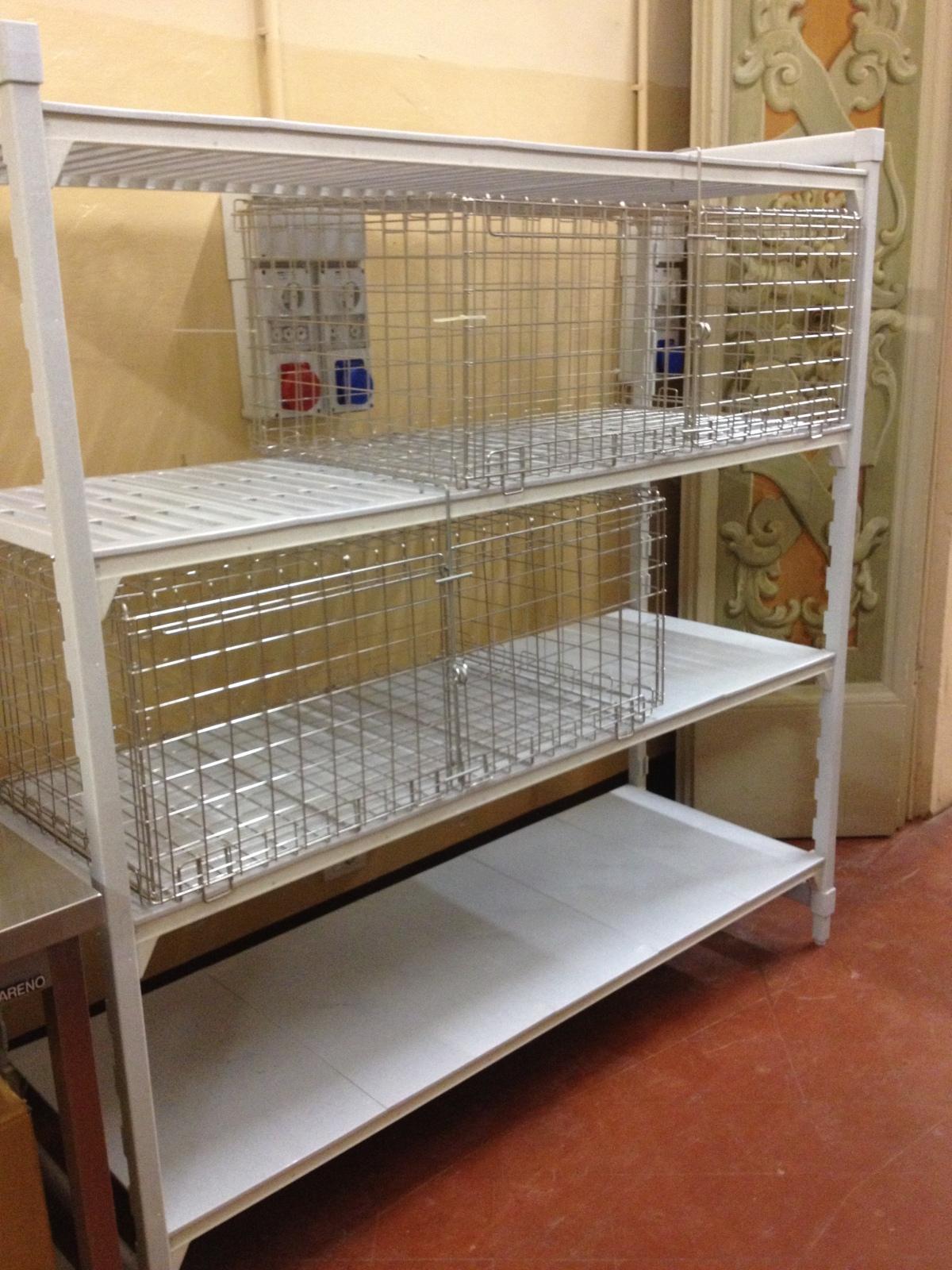 Cambro Camshelving Security Cage at Unaway Hotel - San Lazzaro Italy