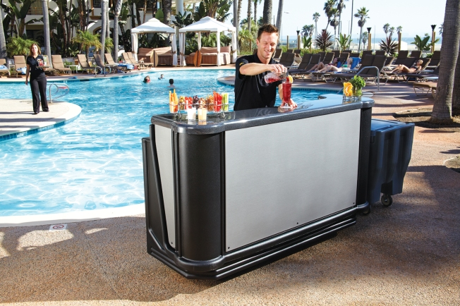 Cambro CamBar by the pool