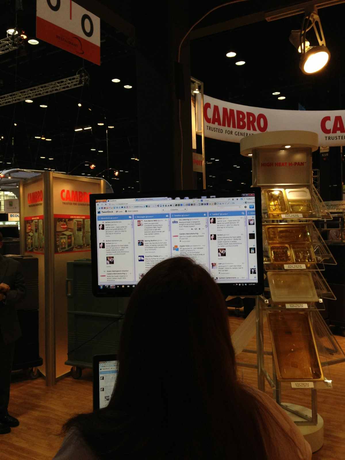 Ask Shelly the Friendly Health Inspector - Cambro booth