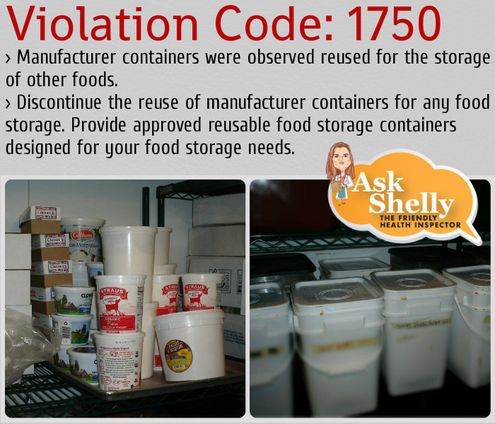 Cambro Food Safety: Reusable Containers Violation