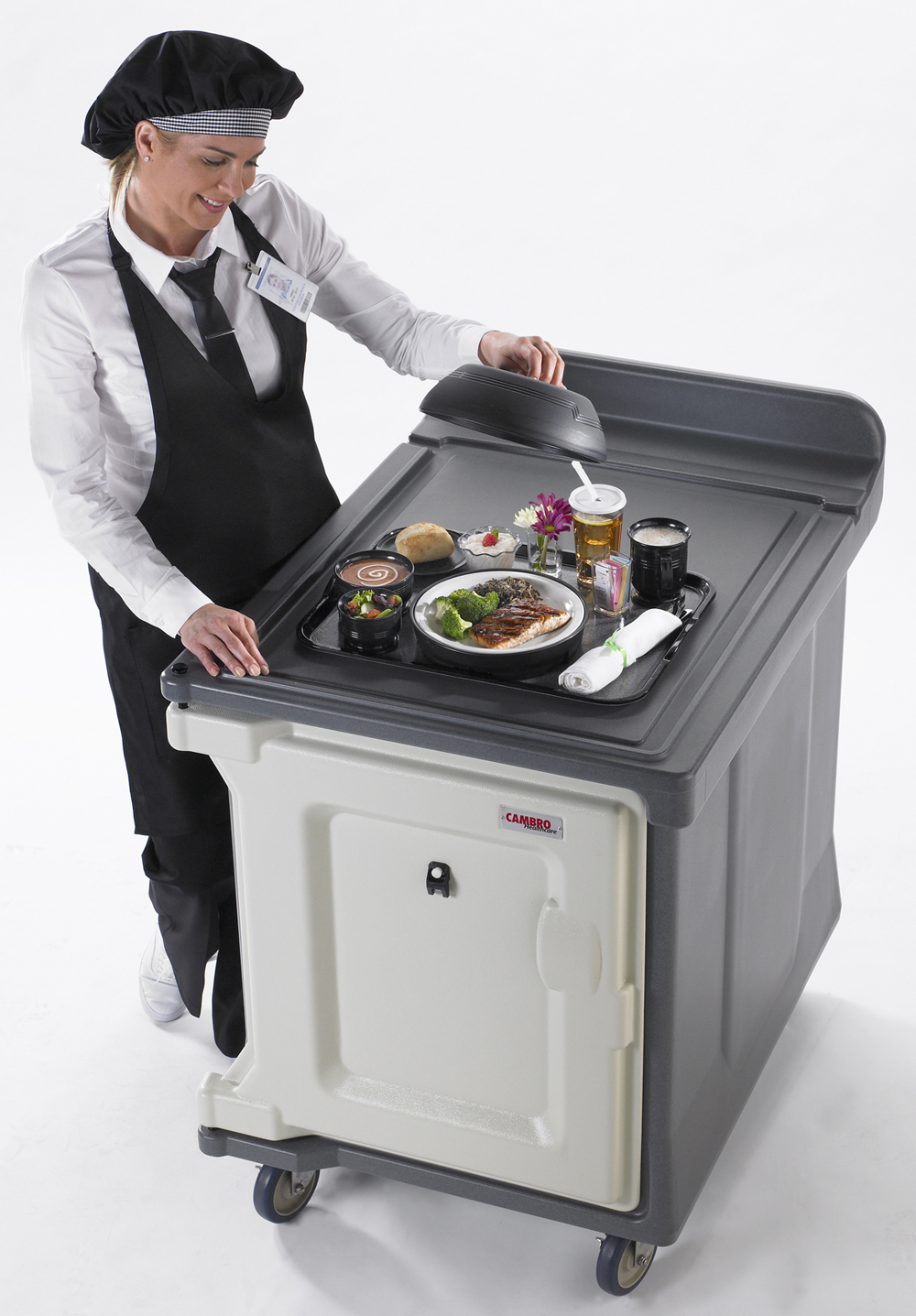Room Service: Cambro Meal Delivery 10 Tray Room Service Cart