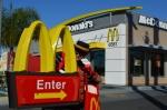 The Hamburglar at McDonalds