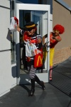 Ronald and the Hamburglar at McDonalds