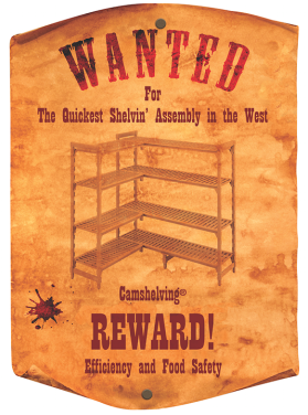Wanted Poster Camshelving