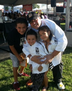 Chef Anthony with Kids at Bite of Las Vegas