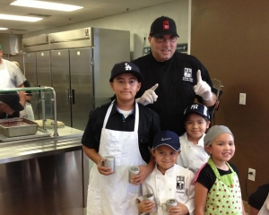 Chef Anthony and kids Volunteering