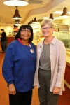 Deb and Debra in cafe at Lake Charles Hospital