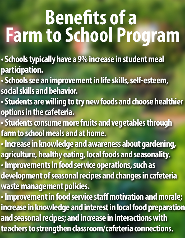 Benefits of a Farm to School Program - Cambro Blog