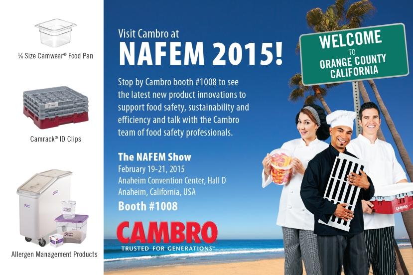 Cambro Booth 1008 NAFEM invite