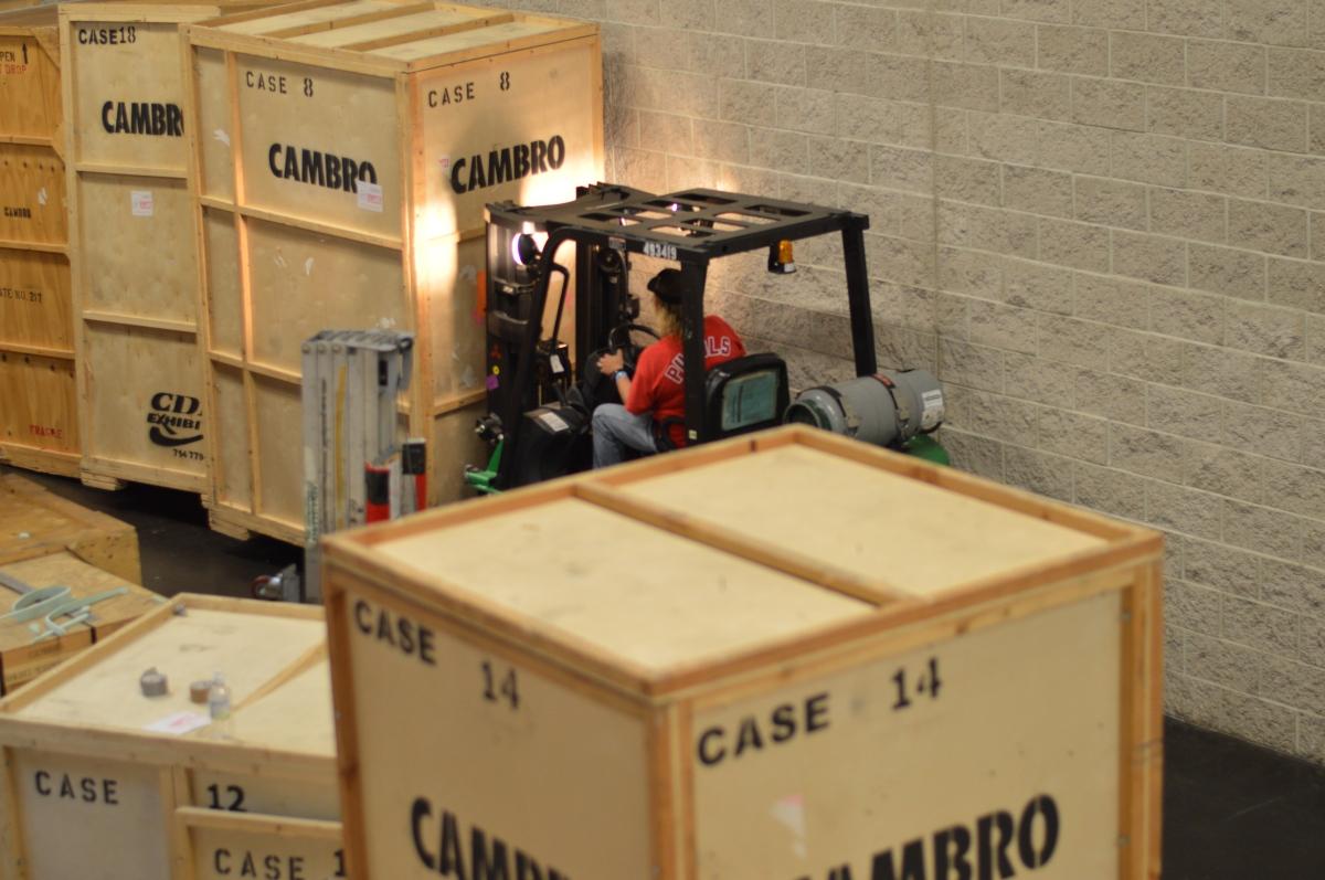 Cambro booth set up NAFEM Show - CAMBRO blog