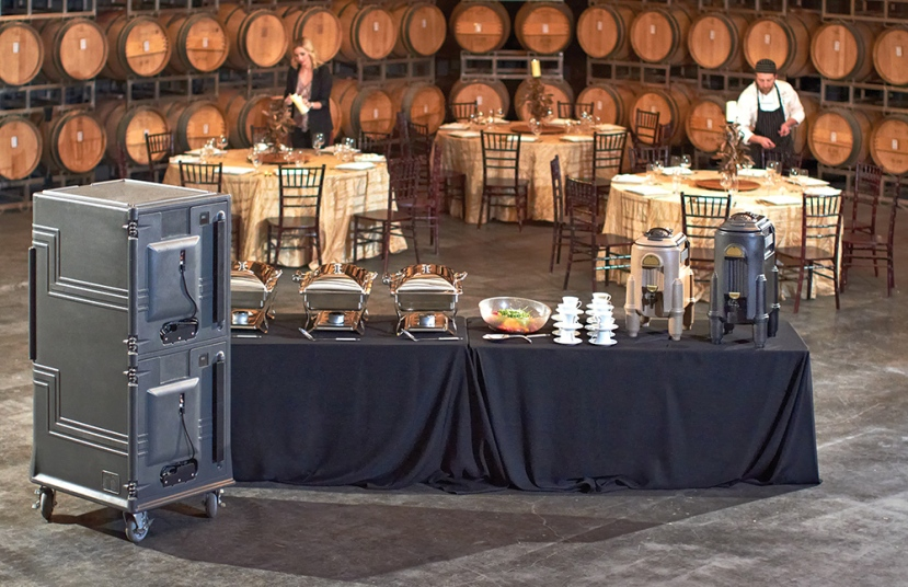 Combo Cart Plus and Insulated Beverage Servers Buffet Line