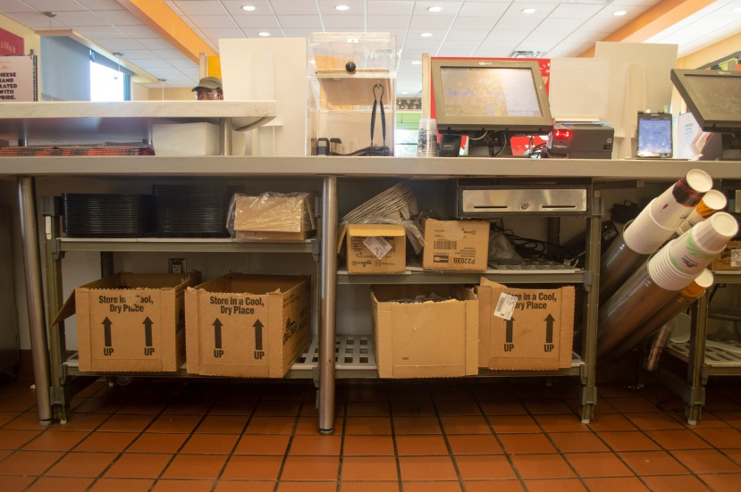 Undercounter units at Del Taco location.