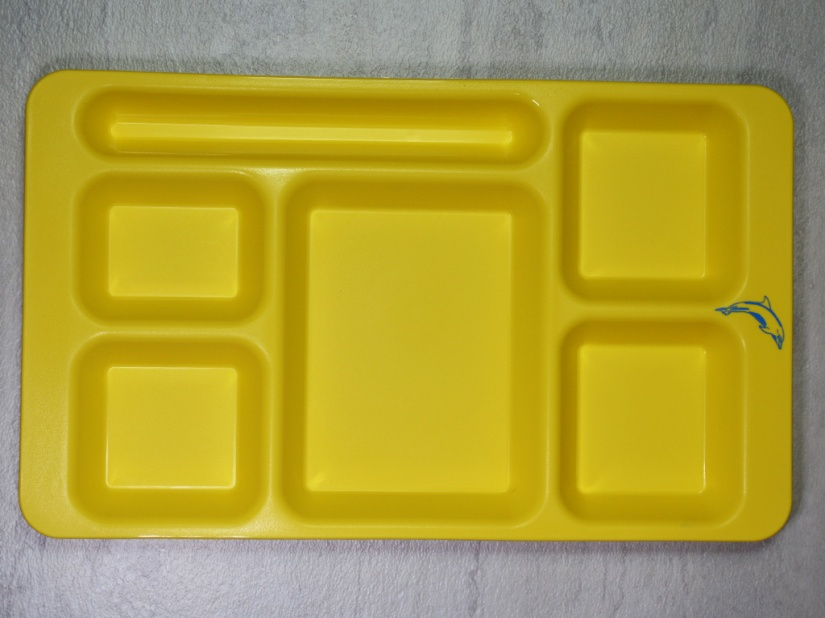 Co-Polymer Compartment Tray in Yellow (1596CP145)
