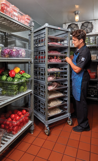 UPR1826F20580 Full Size Ultimate Sheet Pan Rack w 3_ Spacing & Chef Storing