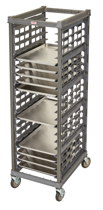UPR1826FA20580 Full Size Ultimate Sheet Pan Rack w 3_ Spacing & Metal Casters