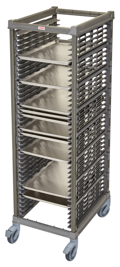 UPR1826FPA40580 Full Size Ultimate Sheet Pan Rack w 1.5_ Spacing & Plastic Casters