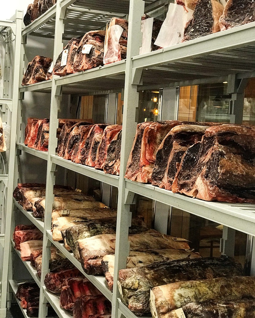 Dry aging room credit Robbie Mezanava Deacon's New South Nashville